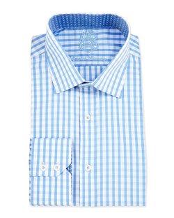 English Laundry  - Gingham Check Woven Dress Shirt