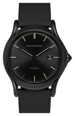 Emporio Armani Swiss Made - Automatic Leather Strap Watch