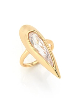 Alexis Bittar  - Miss Havisham Elongated Teardrop Cocktail Ring