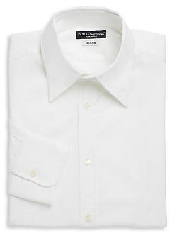 Dolce & Gabbana  - Regular-Fit Stretch Cotton Woven Dress Shirt