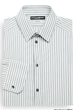 Dolce & Gabbana - Gold-Fit Johnny Depp Striped Dress Shirt