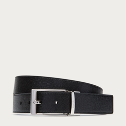 Sasent - Reversible Black & Dark Navy Leather Belt
