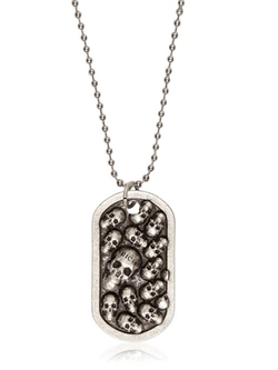 Richmond - Skull Military Dog Tag Necklace