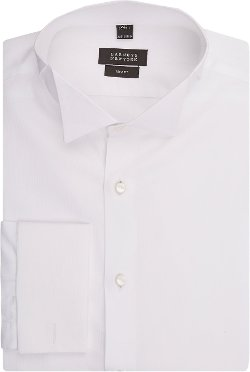 Barneys New York - Hairline Piqué Tuxedo Shirt