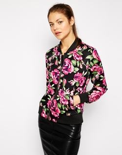 AX Paris  - Floral Bomber Jacket
