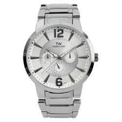 Territory -  Classic Round Face Metal Link Watch