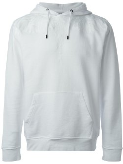 Marcelo Burlon County of Milan  - Embroidered Detail Hoodie