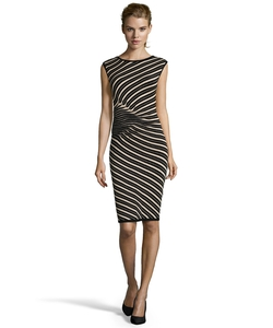 Taylor - Knit Ruched Detail Sheath Dress