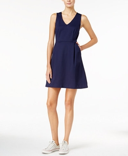 Maison Jules - V-Neck Fit & Flare Dress