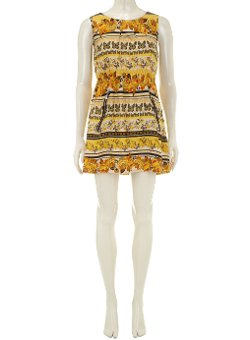 Dorothy Perkins - Mela Yellow Butterfly Rose Dress