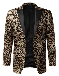 Mondaysuit  - Leopard Animal Print Pattern Party Blazer