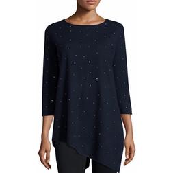 Carmen by Carmen Marc - Beaded Asymmetric Tunic Sweater