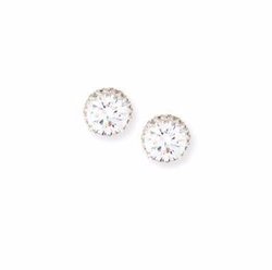 Fantasia by DeSerio - Pavé CZ Crystal Stud Earrings
