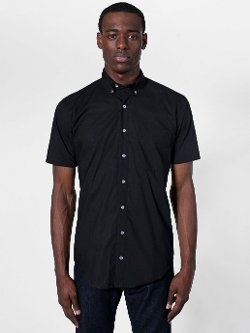 American Apparel - Poplin Short Sleeve Button-Down Shirt