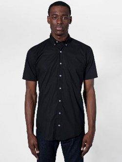 American Apparel - Poplin Short Sleeve Button-Down Shirt