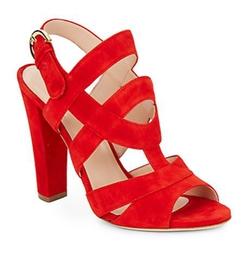 Sergio Rossi  - Suede Slingback Sandals