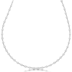 Allurez - The Yard Bezel-Set Eternity Station Necklace