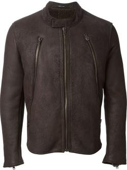 Maison Margiela - Band Collar Biker Jacket