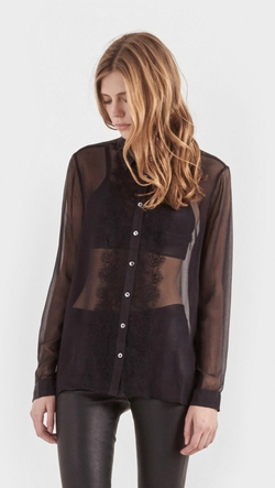 Equipment - Gabby Lace Front Shirt