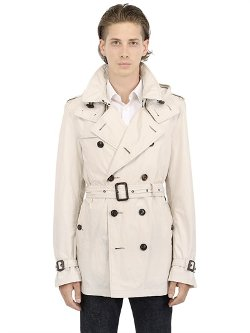 Burberry Brit - Hooded Techno Gabardine Trench Coat
