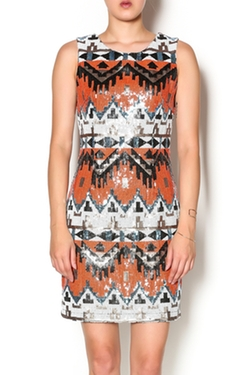 Esley - Sequin Aztec Dress