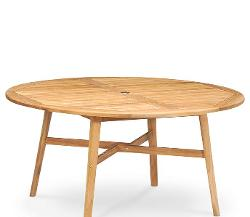"Princeton Teak  - 60"" Outdoor Round Dining Table"