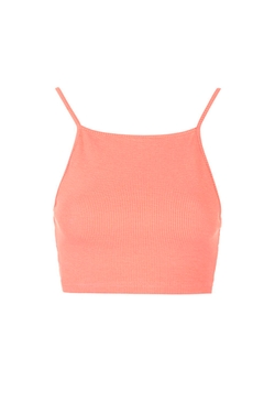 Topshop - Ribbed Crop Top
