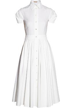 Michael Kors  - Stretch-Cotton Poplin Midi Dress