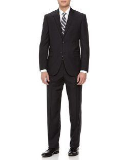 Neiman Marcus  - Two-Piece Striped Wool Suit