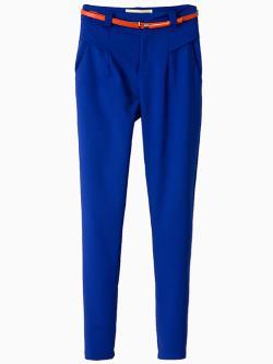 Choies - Capri Pants With Belt