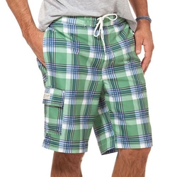 Chaps - Edison Classic-Fit Plaid Board Shorts