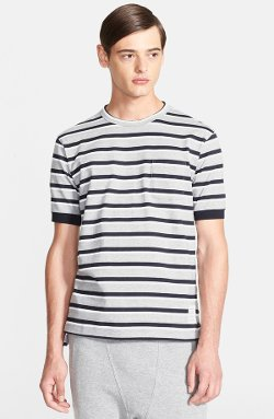 Thom Browne - Stripe Rib Cuff Cotton T-Shirt