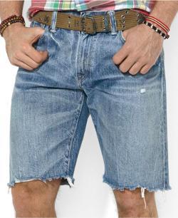 Polo Ralph Lauren  - Indigo-Dyed Denim Cutoff Shorts