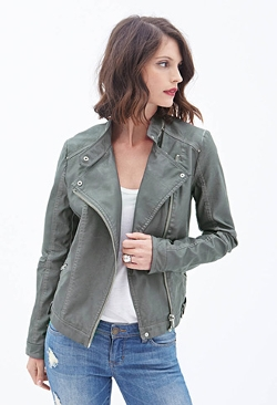 Forever 21 - Faux Leather Moto Jacket