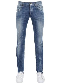 Dolce & Gabbana - Gold Washed Denim Slim Fit Jeans