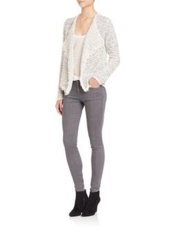 Joie - Nalah Draped Tweed Jacket