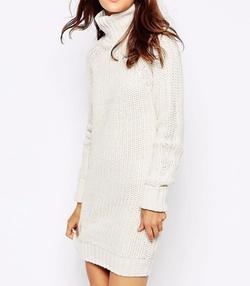 Brave Soul - High Neck Sweater Dress