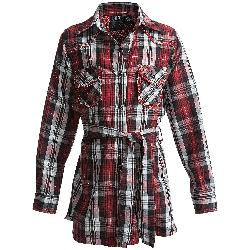 RU - Cowgirl Crownpoint Plaid Tunic Shirt