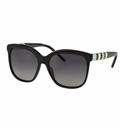 Bvlgari - Square Rhinestone-Trim Polarized Sunglasses