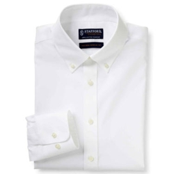 Stafford - Cotton No-Pocket Dress Shirt