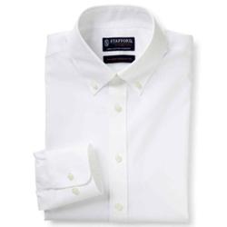 Stafford - Cotton No-Pocket Dress Shirt
