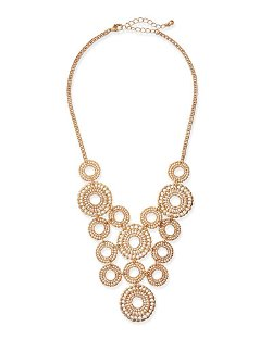 Jules Smith	 - Lacy Cutout Circles Bib Necklace