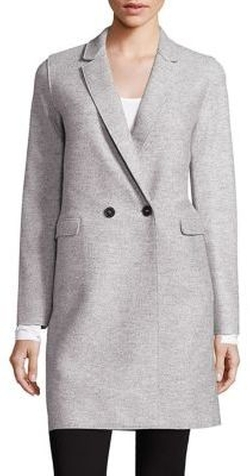 Harris Wharf London  - Virgin Wool Double-Breasted Coat