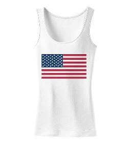TooLoud  - American Flag Womens Tank Top
