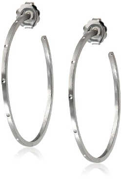 "Alex Woo - ""Sienna"" Sterling Silver Hoop Earrings"