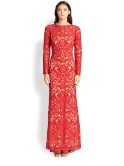Tadashi Shoji - Cord-Embroidered Lace Gown