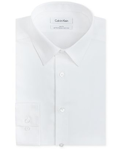 Calvin Klein  - Solid Performance Dress Shirt