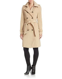 Calvin Klein - Double Breasted Belted Trench Coat