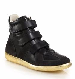 Maison Margiela  - Triple-Strap High-Top Sneakers