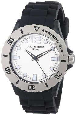 Akribos XXIV - Luminous Quartz Silicon Strap Watch